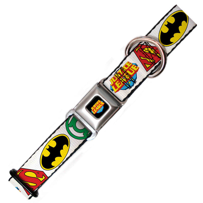 Justice League Dog Collar, White
