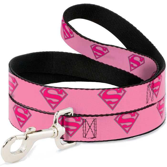 Pink Superman Dog Lead