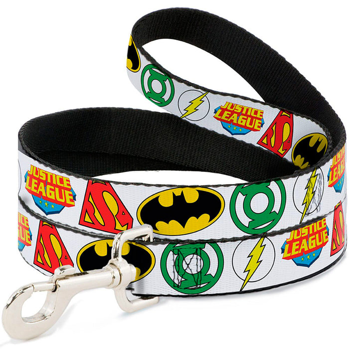 Justice League Dog Lead, White
