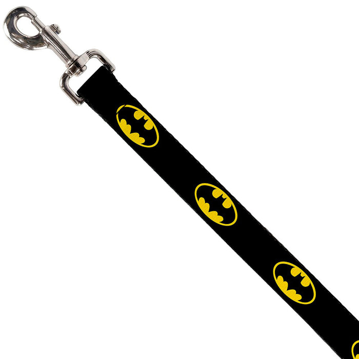 Batman Shield Dog Lead, Black and Yellow