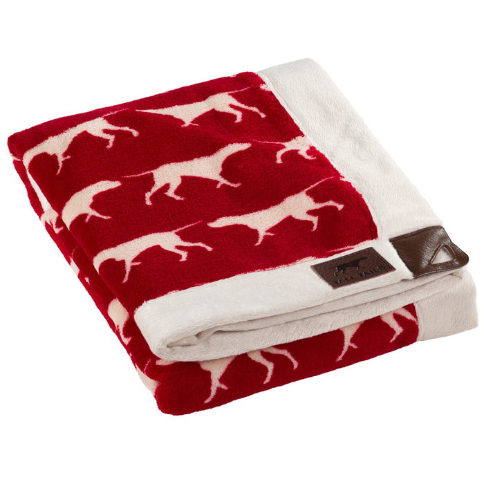 Fleece Throw, Red Icon Print