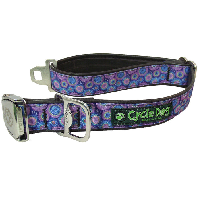 Eco-Dog Collar, Purple Blue Tie Dye