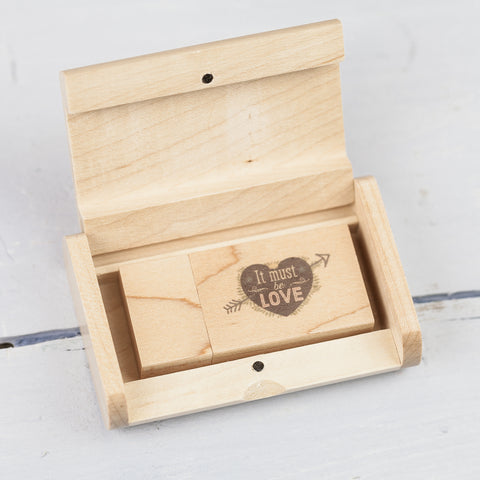 Woodland USB & Wooden Flip Bundle Lightwood
