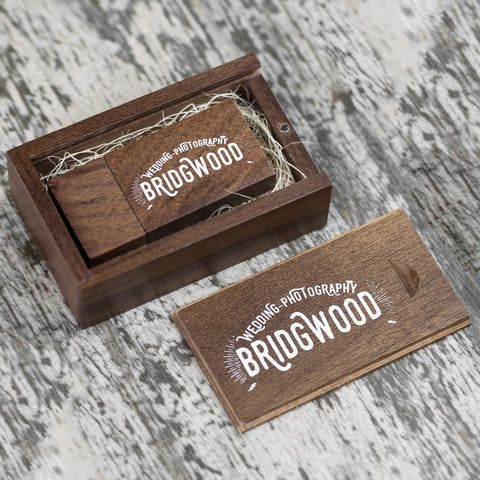Woodland USB & Wooden Slide Box