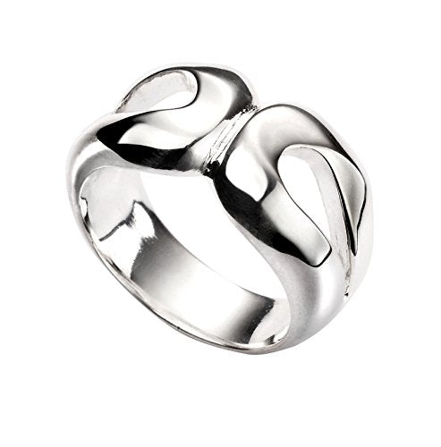 Elements Silver Women's Double Organic Loop Ring
