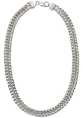 Genuine Sterling Silver Heavyweight Close Curb Necklace of Length 50cm