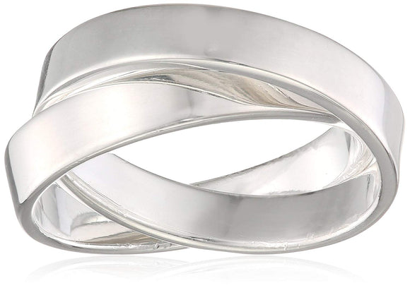 Elements Silver Women's Double Linked Ring