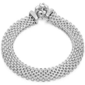Women's 9 ct White Gold Bismark Bracelet of Length 19 cm