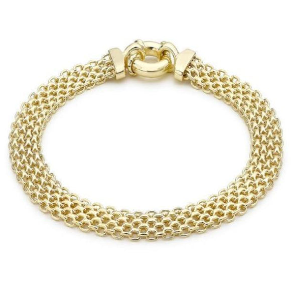 Women's 9 ct Yellow Gold Bismark Bracelet of Length 19 cm