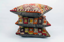 Triplet of Vintage Kilim rug Pillow Cover 16x16 inches  (40x40 cm)