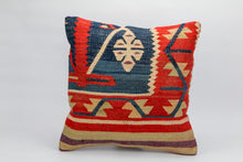 Vintage Kilim rug Pillow Cover 16x16 inches  (40x40 cm)