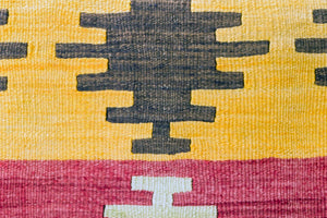 Pair of Kilim rug Pillow Cover 16x24 inches  (40x60 cm)