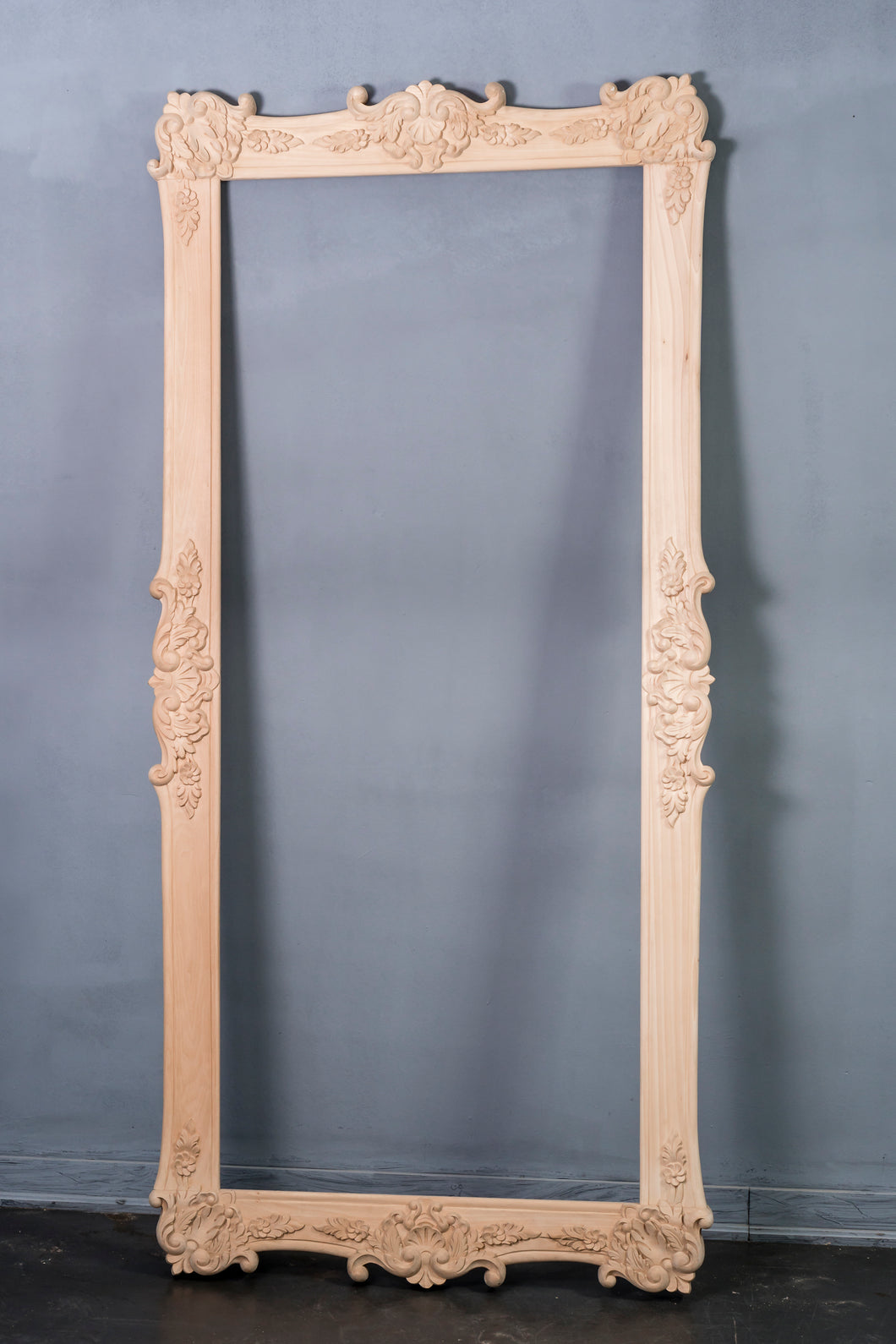 Hand Carved Semi-finished Mirror/Picture Frame