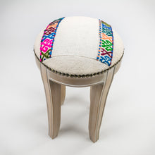 Unique Vintage Kilim Rug Stool