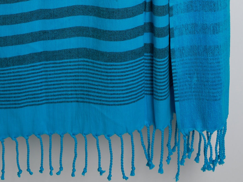 PACIFIC Pink & Blue Beach and Bath Towel & Peshtemal - livingroots uk