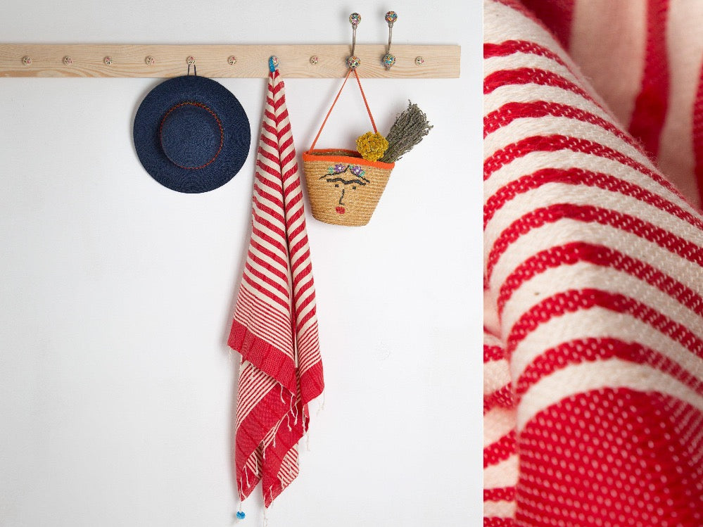 Colour Striped Beach & Bath towel - livingroots uk