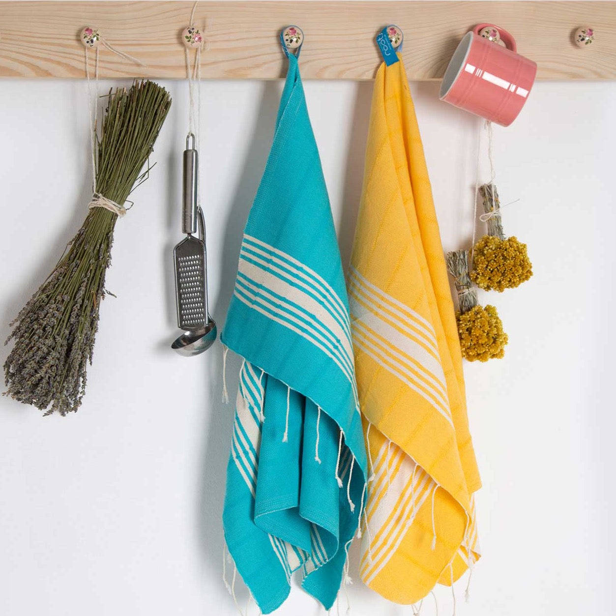 FRIENDS - Cotton Kitchen Tea Towels - livingroots uk