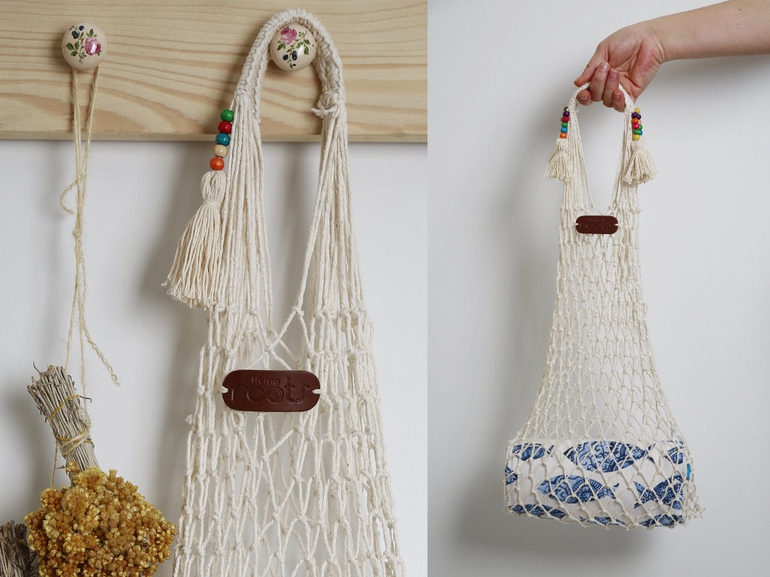 SUNDAY Cotton Net Bag - livingroots uk