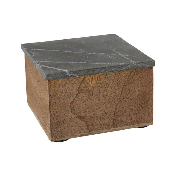 Kata Trinket Box (Small) Slate Mango Wood