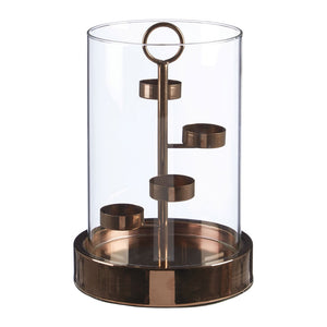 Kensington Townhouse Candle Holder 4 Tealight Glass / Bronze Iron