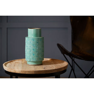 Complements Axel Vase Turquoise Handcrafted
