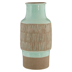 Complements Large Sulu Vase Mint/Brown Handcrafted
