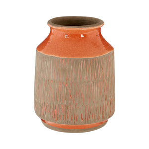 Complements Small Sulu Vase Amber Handcrafted