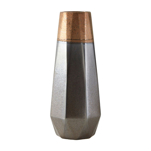 Jet Metallic Vase Small
