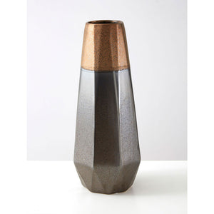 Jet Metallic Vase Large