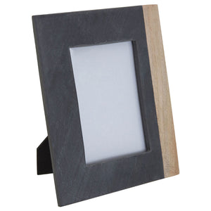 Kata Photo Frame (5In X 7In) Slate Mango Wood