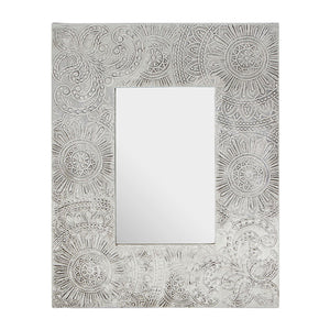 Bowerbird 4x6 Photo Frame Silver Etched Design
