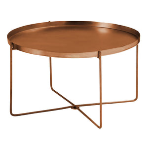Templar Tray Table Metal / Copper Finish Removable Top