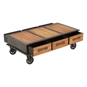 The Warehouse Coffee Table with draws open