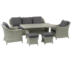 Bramblecrest Monterey 3 Seat Sofa Set With Ceramic Dining Table & Armchairs cutout