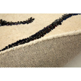 Close up of Bosie Branch Print Rug Ivory Tufted Wool / Polyester