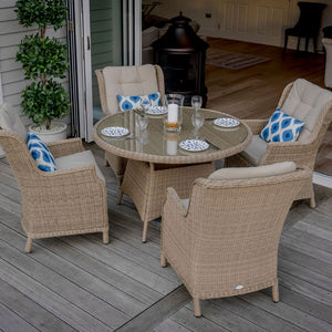 Oakridge Bramblecrest Table and 4 chairs without parasol