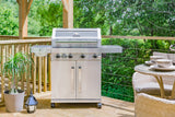 Grillstream Stainless Steel Gas BBQ 4 Burner on decking