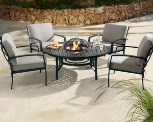 Jamie Oliver Contemporary Fire Pit Set - Black & Grey