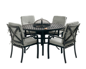 Jamie Oliver Contemporary 4 Seat Grilling and Dining Set - Black & Grey