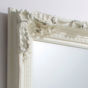 Close-up of Chateau Leaner Mirror (Cream frame)