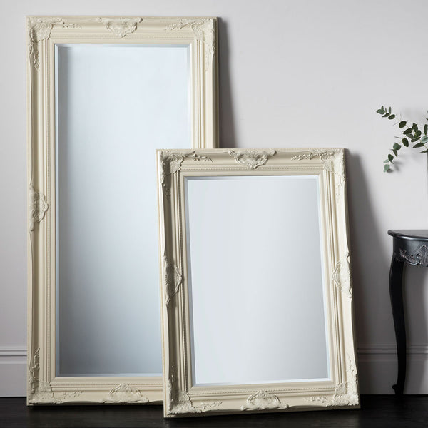 Hampstead Leaner Mirror (Cream) and Hampstead Rectangle Mirror (Cream)