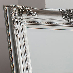 Close-up of Hampstead Leaner Mirror (Silver) frame detailing