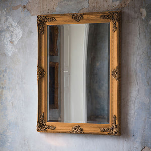 Ornate Rectangle Mirror (Gold)