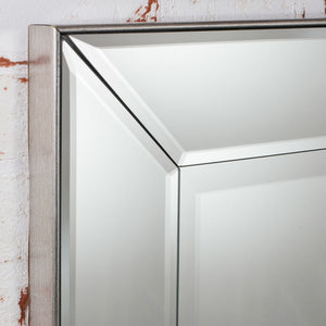 Close-up of Bevelled mirror frame
