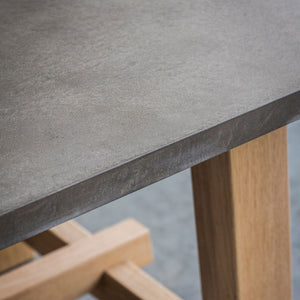The Concrete Dining Table Top Close Up