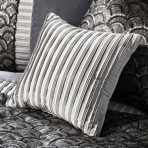 Silver pleated cushion