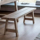 The Serenity Bench in situation with larger table and accessories