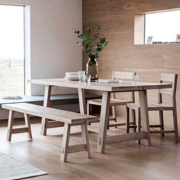 The Serenity Oak Dining Table Set