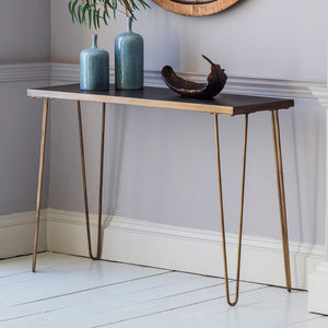 Canopy Console Table with ornaments