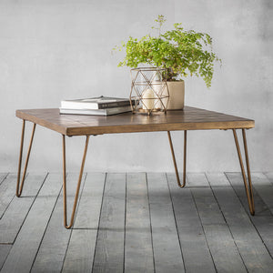 Canopy Coffee Table with plant